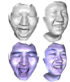 Binocular photometric stereo acquisition and reconstruction for 3d  talking head applications